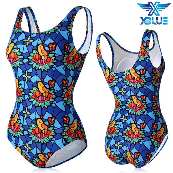 XBL-0021 원피스-18 엑스블루 여성 아쿠아복 수영복
