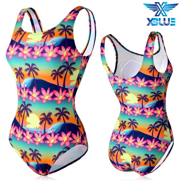 XBL-0021 원피스-19 엑스블루 여성 아쿠아복 수영복