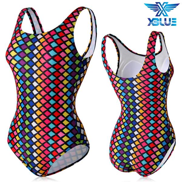 XBL-0021 원피스-23 엑스블루 여성 아쿠아복 수영복