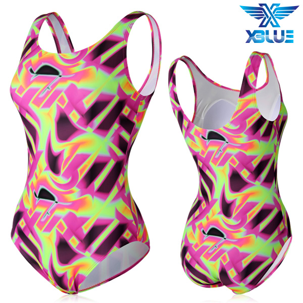 XBL-0021 원피스-2 엑스블루 여성 아쿠아복 수영복