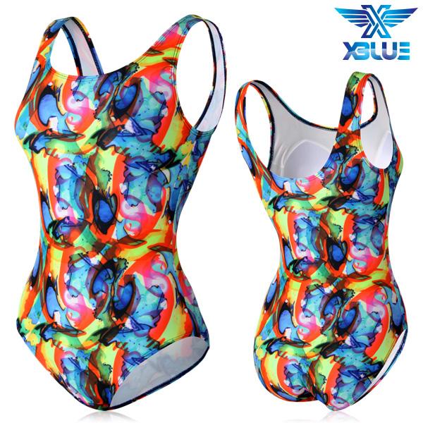 XBL-0021 원피스-3 엑스블루 여성 아쿠아복 수영복
