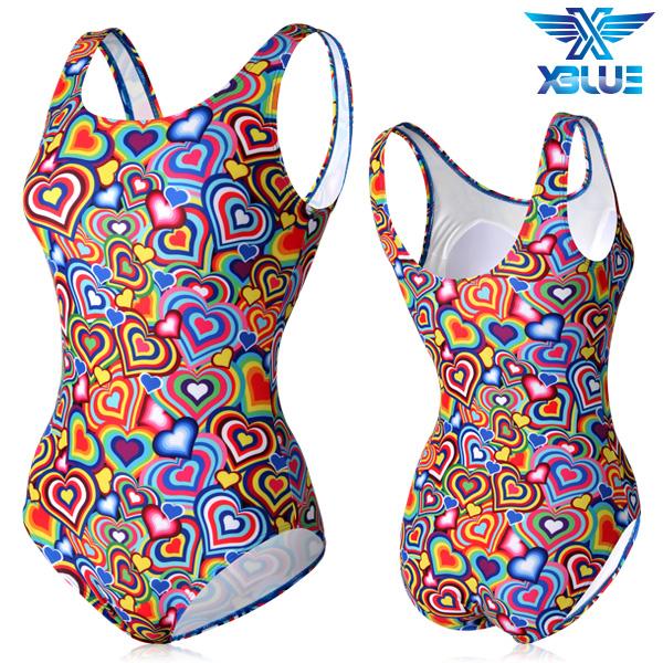 XBL-0021 원피스-4 엑스블루 여성 아쿠아복 수영복