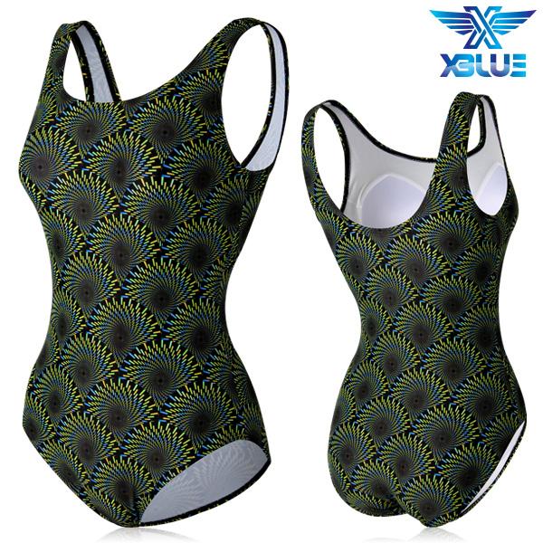 XBL-0021 원피스-9 엑스블루 여성 아쿠아복 수영복