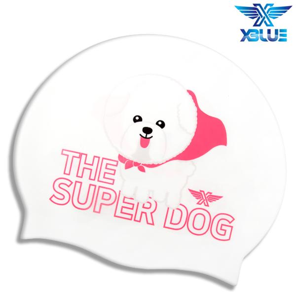XBL-0208 SUPER DOG 엑스블루 실리콘 수모 수영모