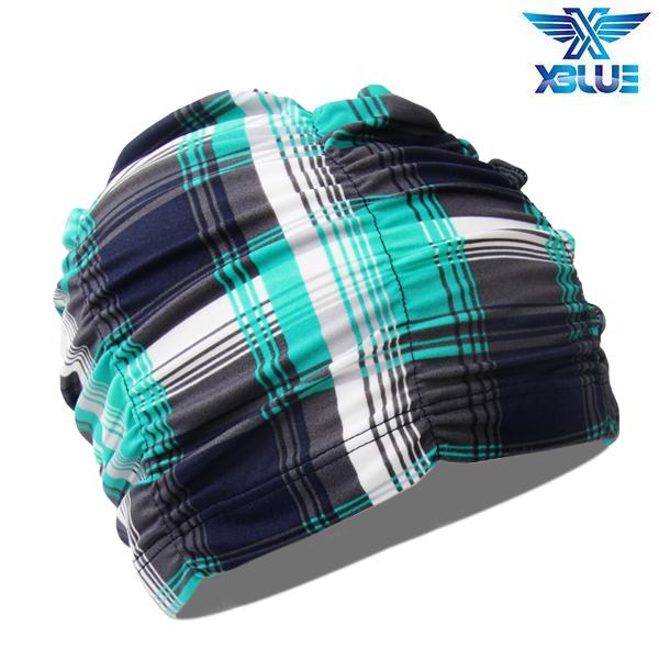 XBL-7301-20 엑스블루 아쿠아 주름나염 수모 수영모