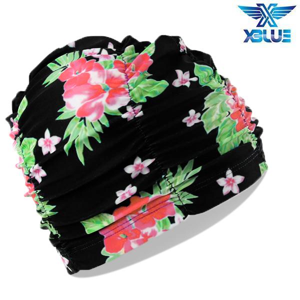 XBL-7301-23 엑스블루 아쿠아 주름나염 수모 수영모