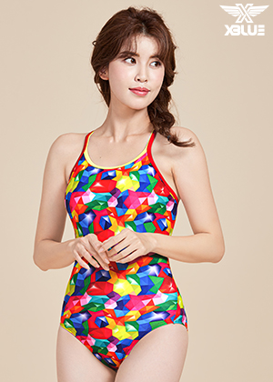 XBL-8047-7 엑스블루 XBLUE 원피스 탄탄이 수영복