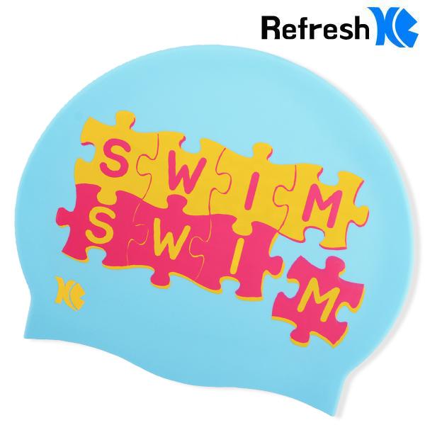 XBL-8202(SKY) SWIM PUZZLE 실리콘 수모 수영모