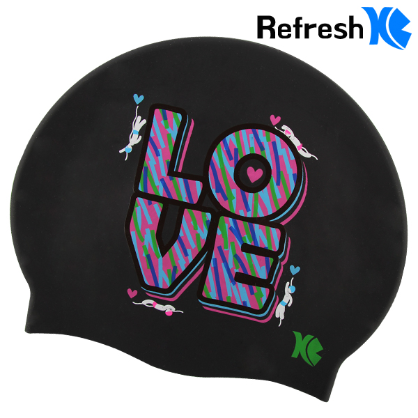 XBL-8210 COLOR LOVE 실리콘 수모 수영모