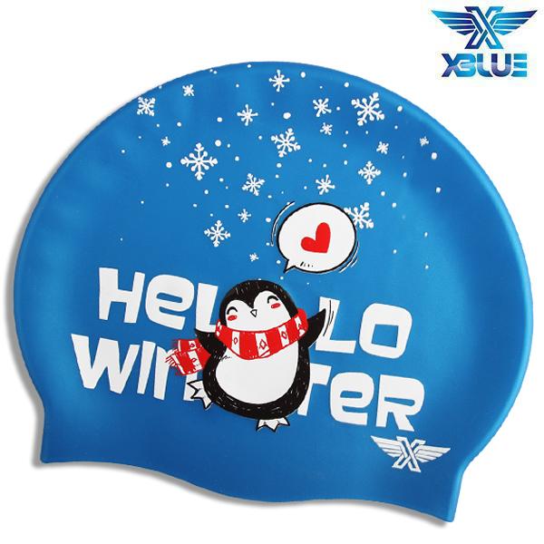 XBL-8237 HELLO WINTER 엑스블루 실리콘 수모 수영모