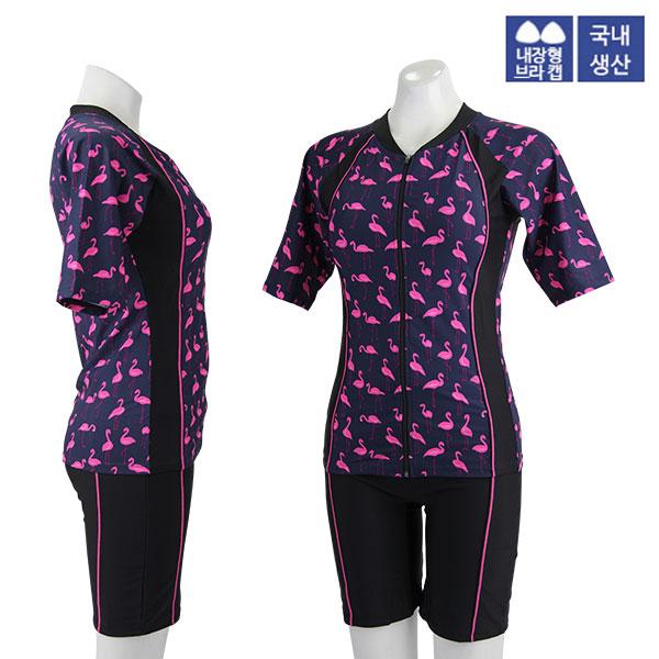 XBL-8303-1 XBLUE 엑스블루 여성 반팔 투피스 수영복