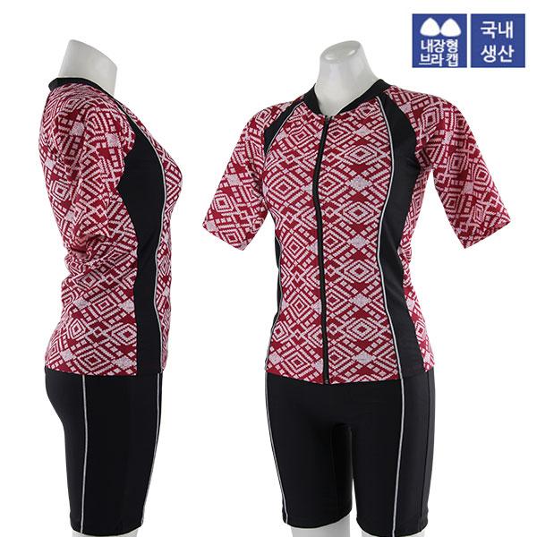 XBL-8303-2 XBLUE 엑스블루 여성 반팔 투피스 수영복