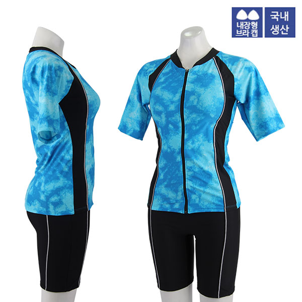 XBL-8303-3 XBLUE 엑스블루 여성 반팔 투피스 수영복