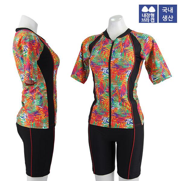 XBL-8303-4 XBLUE 엑스블루 여성 반팔 투피스 수영복