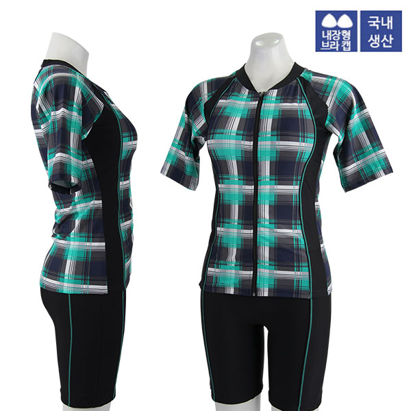 XBL-8303-5 XBLUE 엑스블루 여성 반팔 투피스 수영복