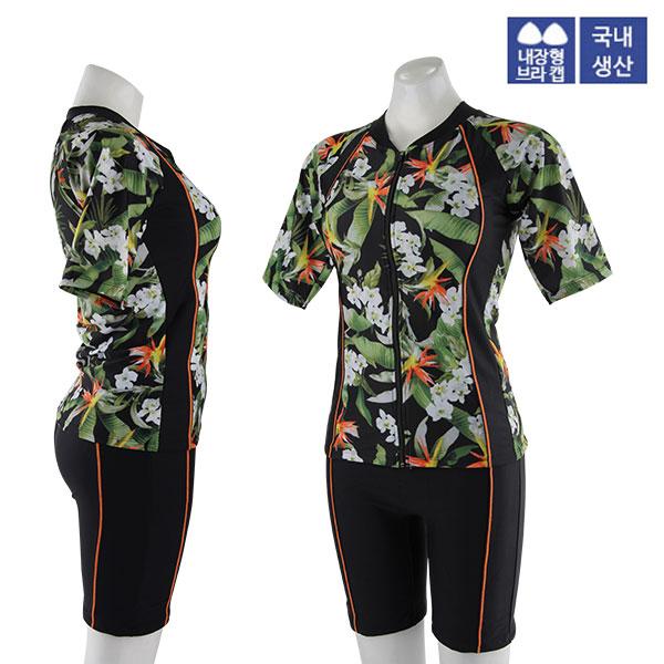 XBL-8303-6 XBLUE 엑스블루 여성 반팔 투피스 수영복