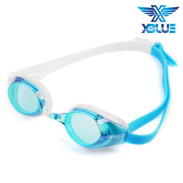 XBL-8401MR-AQUA 엑스블루 미러렌즈 패킹 수경