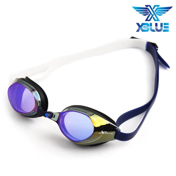 XBL-8401MR-BLUE 엑스블루 미러렌즈 패킹 수경