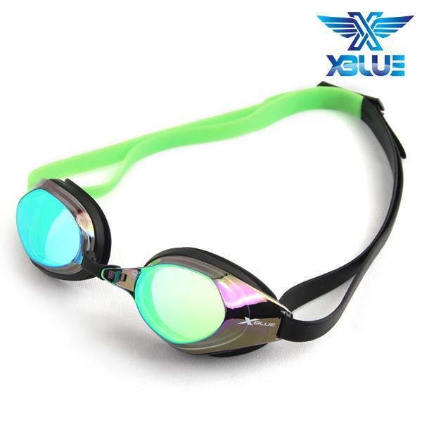 XBL-8401MR-GREEN 엑스블루 미러렌즈 패킹 수경