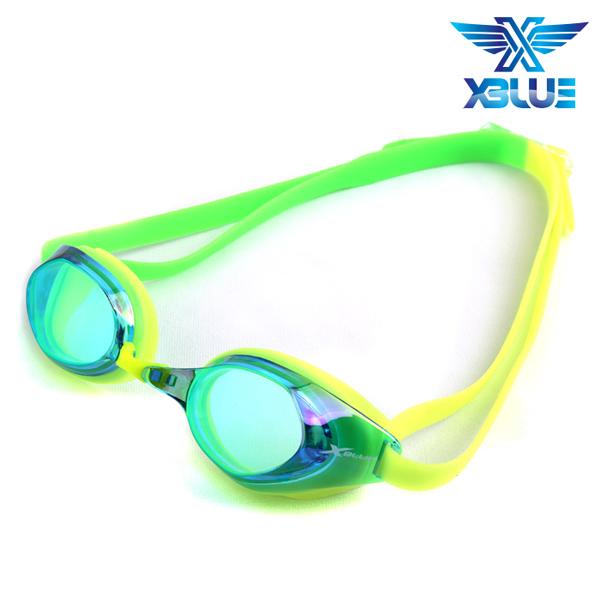 XBL-8401MR-LIME 엑스블루 미러렌즈 패킹 수경
