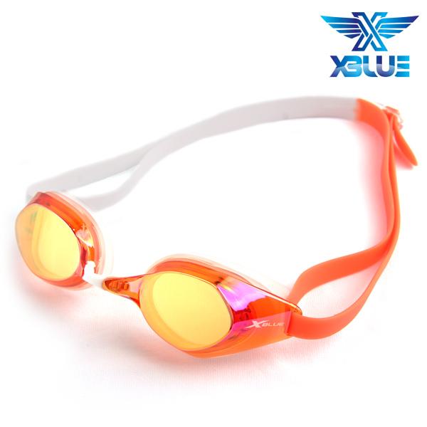 XBL-8401MR-ORANGE 엑스블루 미러렌즈 패킹 수경