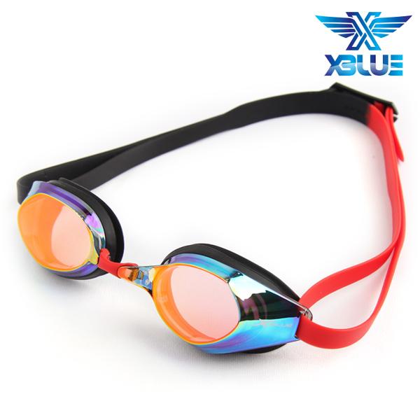 XBL-8401MR-RED 엑스블루 미러렌즈 패킹 수경