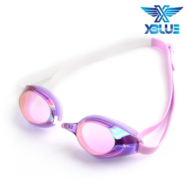 XBL-8401MR-VIOLET 엑스블루 미러렌즈 패킹 수경