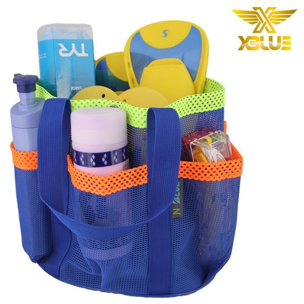 XBL-8900(BUYO)(대) 플라워 메쉬백 가방 수영용품