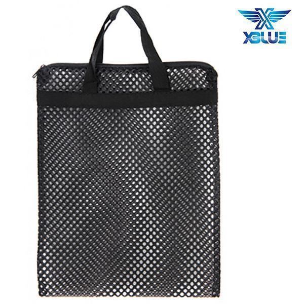 망사가방大-검정 엑스블루 XBLUE 수영용품