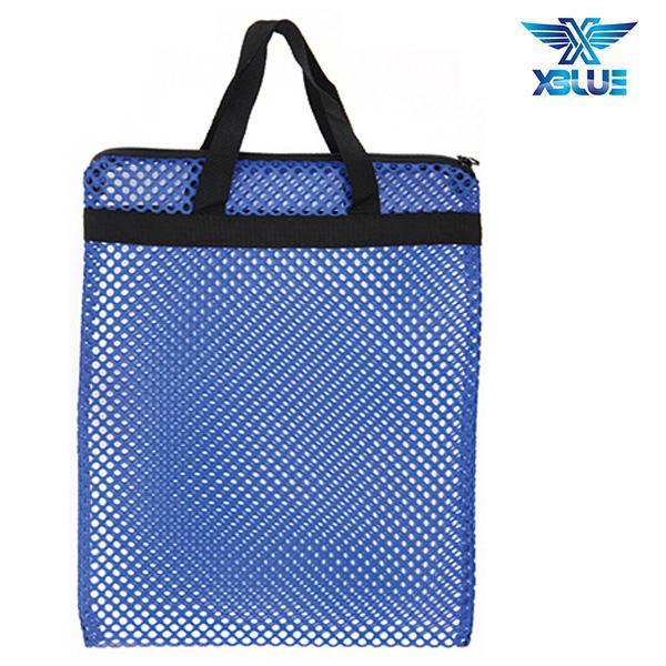 망사가방大-파랑 엑스블루 XBLUE 수영용품