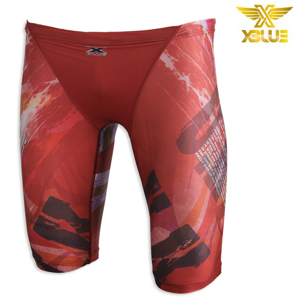 XMQ-3102-RED 엑스블루 XBLUE 남성 5부 수영복