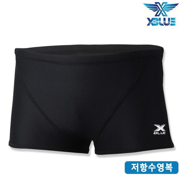 XMQ-5105-BKBK 엑스블루 연습용 숏 사각 저항 수영복