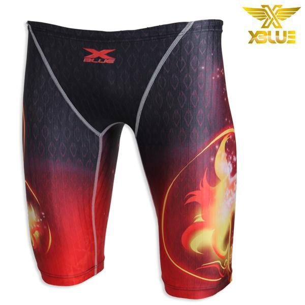 XMQ-8105-RED 엑스블루 XBLUE 남성 5부 수영복