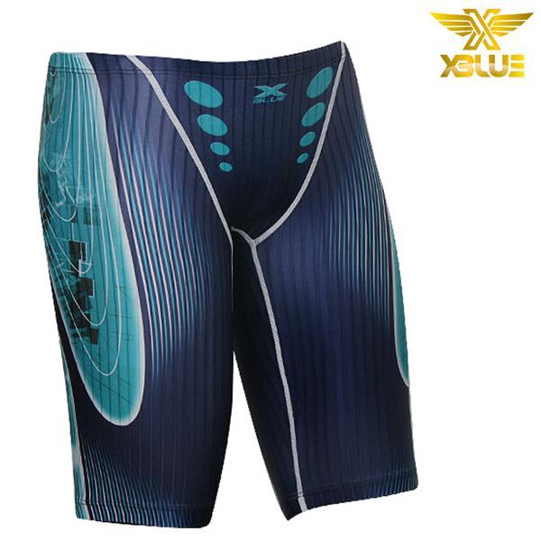 XMQ-8114-SNVY 엑스블루 XBLUE 남성 5부 수영복