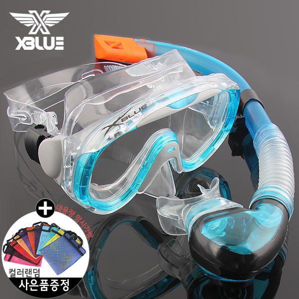 XSNO 0017 AQA 엑스블루 마스크 스노클 세트