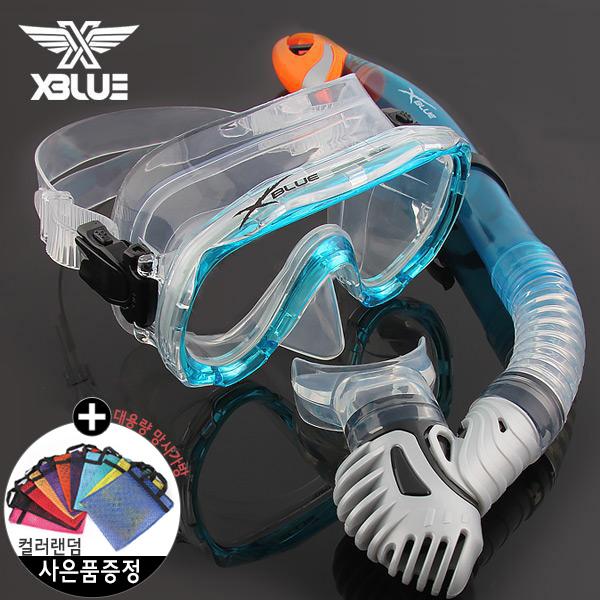 XSNO 0030 AQA 엑스블루 마스크 스노클 세트
