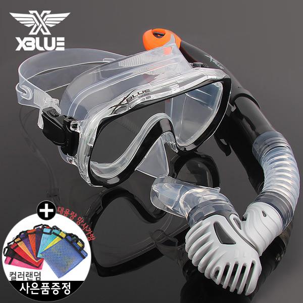 XSNO 0030 BLK 엑스블루 마스크 스노클 세트