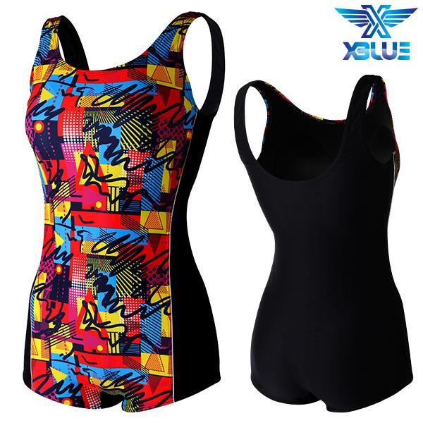 XWU-8301 사각-13 엑스블루 여성 사각 아쿠아복 수영복