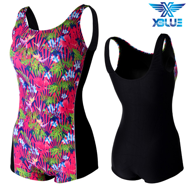 XWU-8301 사각-15 엑스블루 여성 사각 아쿠아복 수영복