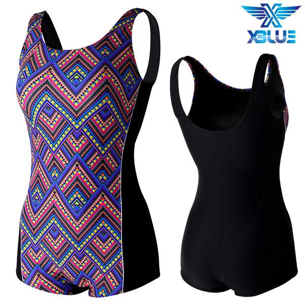 XWU-8301 사각-16 엑스블루 여성 사각 아쿠아복 수영복
