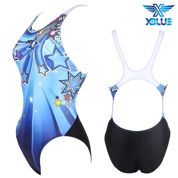 XWX-2076P-BLU 엑스블루 XBLUE 원피스 탄탄이 수영복
