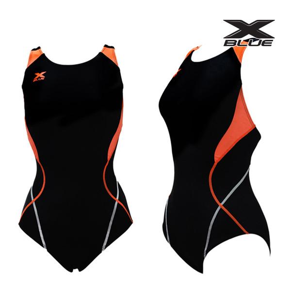 XWX-5020 (BKOR) 엑스블루 주니어 원피스 수영복