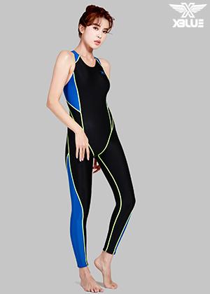 XWX-7001-BKBL 엑스블루 여성 전신 수영복