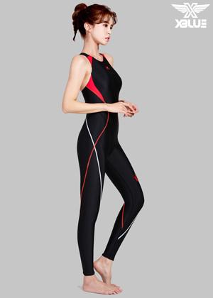 XWX-7002-BKRE 엑스블루 여성 전신 수영복