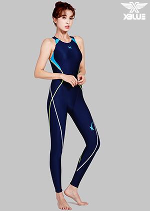 XWX-7002-NVTU 엑스블루 여성 전신 수영복