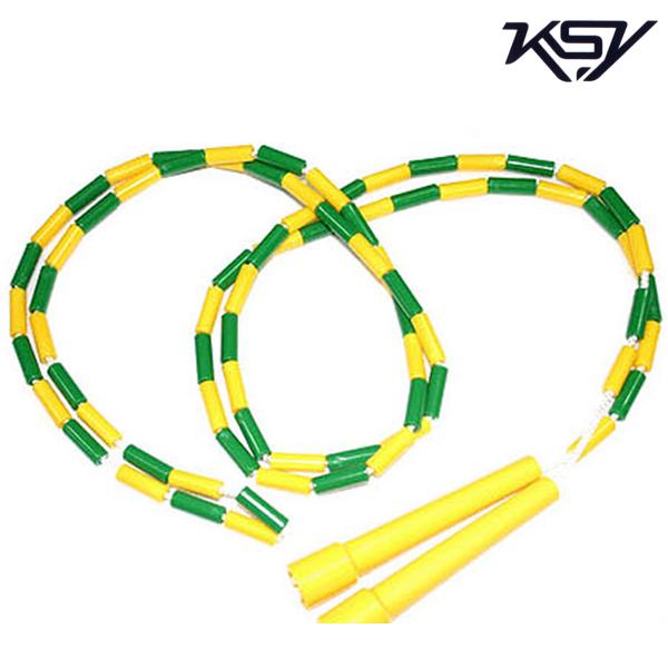 K-710-YELLOW 김수열 어린이용 느낌표 색동 줄넘기
