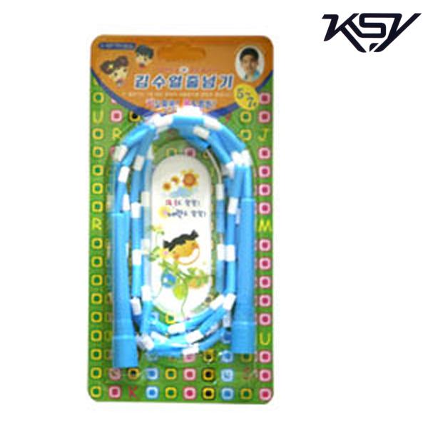 K-507-BLUE 김수열 유치원색동줄넘기 미니로프