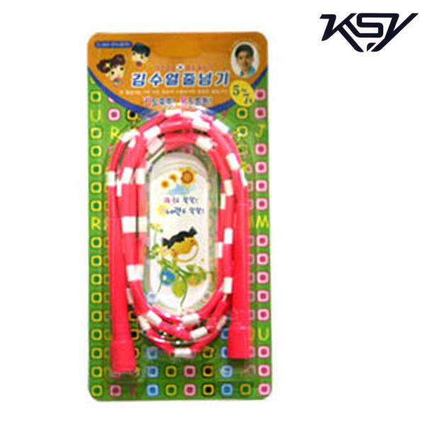 K-507-PINK 김수열 유치원색동줄넘기 미니로프