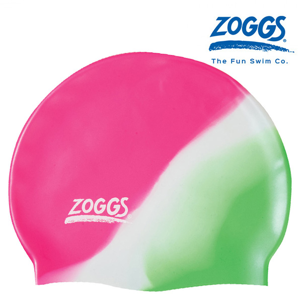 ZOGGS 주니어 실리콘 캡 멀티 컬러 PINK-WHITE-GREEN 조그스 주니어 수모