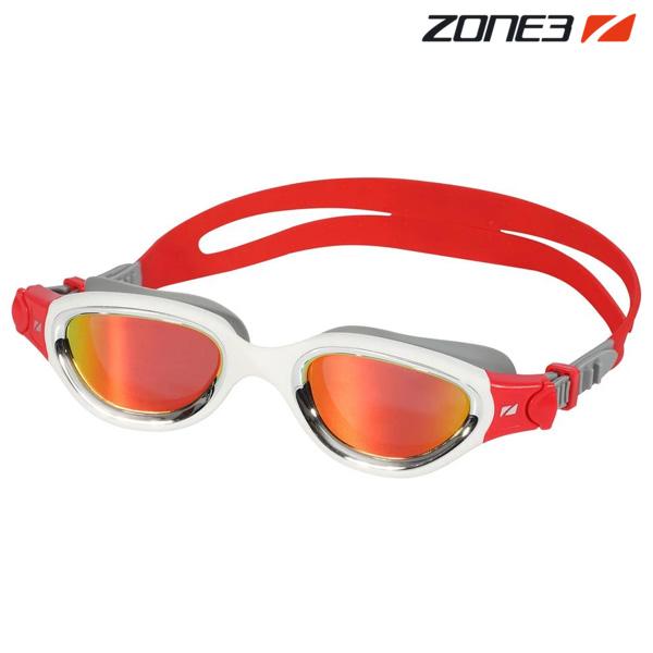 ZONE3 VENATOR-X 오픈워터 편광렌즈 SIL-WHT-RED 수경